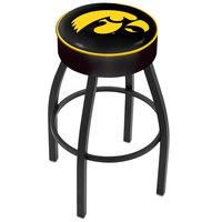 Holland Bar Stool L8B130IowaUn University of Iowa Single Ring Swivel Bar Stool with 4 inch Padded Seat