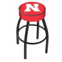 Holland Bar Stool L8B130NebrUn University of Nebraska Single Ring Swivel Bar Stool with 4 inch Padded Seat