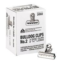 X-Acto 2002 1/2 inch Capacity Nickel-Plated Bulldog Clip - 36/Box