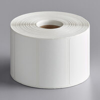 Cardinal Detecto 7100-0026 Equivalent 2 1/4 inch x 1 1/4 inch Blank White Thermal Label Roll, 1135 Labels/Roll