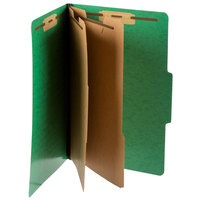 Pendaflex PFX 2257GR Legal Size Moisture-Resistant Classification Folder - 10/Box