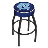 Holland Bar Stool L8B130NorCar University of North Carolina Single Ring Swivel Bar Stool with 4 inch Padded Seat