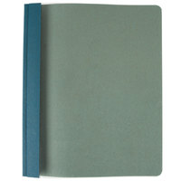 Oxford 57872 Earthwise 8 1/2 inch x 11 inch Blue Recycled Clear Front Report Cover with 3 Fasteners - 25/Box