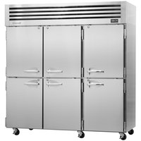Turbo Air PRO-77-6R 78 inch Premiere Pro Series Three Section Solid Half Door Reach in Refrigerator