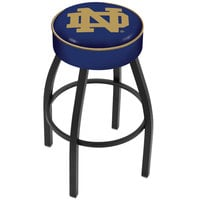 Holland Bar Stool L8B130ND-ND Notre Dame Single Ring Swivel Bar Stool with 4 inch Padded Seat