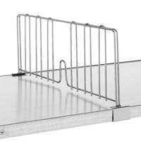 Metro DD14FC 14 inch Super Erecta Chrome Solid Shelf Divider