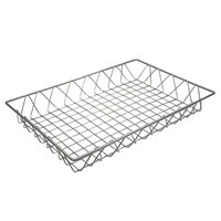 GET WB-953-SV Silver Wire Pastry Basket - 18 inch x 12 inch x 2 inch