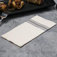 Hoffmaster FP1112 15 1/2 inch x 15 1/2 inch FashnPoint White/Black Dishtowel Print Dinner Napkin - 100/Pack