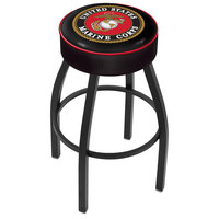 Holland Bar Stool L8B130Marine United States Marine Corps Single Ring Swivel Bar Stool with 4 inch Padded Seat