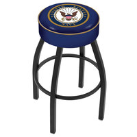 Holland Bar Stool L8B130Navy United States Navy Single Ring Swivel Bar Stool with 4 inch Padded Seat