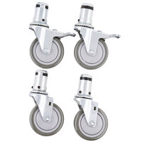 4 inch Swivel Stem Casters - 4/Set