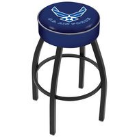 Holland Bar Stool L8B130AirFor United States Air Force Single Ring Swivel Bar Stool with 4 inch Padded Seat