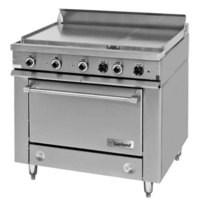 Garland 36ES32 Heavy-Duty Electric Range with 2 All-Purpose Top Sections and Storage Base - 208V, 1 Phase, 15 kW