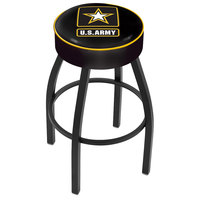 Holland Bar Stool L8B130Army United States Army Single Ring Swivel Bar Stool with 4 inch Padded Seat