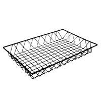 GET WB-953-BK POP Black Wire Pastry Basket - 18 inch x 12 inch x 2 inch