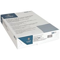 8 1/2 inch x 14 inch White Case of 20# Multipurpose Paper - 5000 Sheets