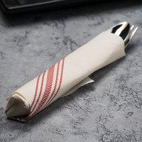 Hoffmaster FP1312 15 1/2 inch x 15 1/2 inch FashnPoint White/Red Dishtowel Print Dinner Napkin - 250/Pack