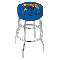 Holland Bar Stool L7C130UKYCat University of Kentucky Double Ring Swivel Bar Stool with 4 inch Padded Seat