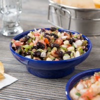 Thunder Group ML352CB1 Melamine 8 oz. Colbalt Blue Salsa Dish - 12/Pack