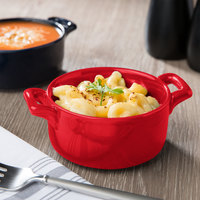 Bon Chef 1600002PRed 9.5 oz. Red Porcelain Cocotte - 36/Case