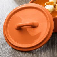 Bon Chef 1600005POrange 5 inch Orange Porcelain Oval Cocotte Lid - 36/Case