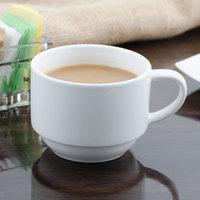 Bon Chef 1000007P Concentrics 8 oz. White Porcelain Short Cup - 36/Case