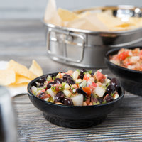 Thunder Group ML351BL Melamine 4.5 oz. Black Salsa Dish - 12/Pack