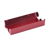 MMF Industries 211010107 Red Aluminum Rolled Coin Storage Tray - $10, Pennies