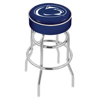 Holland Bar Stool L7C130PennSt Penn State University Double Ring Swivel Bar Stool with 4 inch Padded Seat