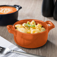 Bon Chef 1600002POrange 9.5 oz. Orange Porcelain Cocotte - 36/Case