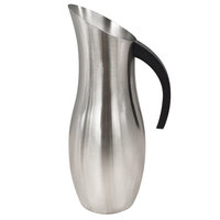 GET P-64-BSS 64 oz. Brushed Stainless Steel Pitcher with Black Handle