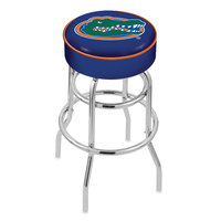 Holland Bar Stool L7C130FlorUn University of Florida Double Ring Swivel Bar Stool with 4 inch Padded Seat