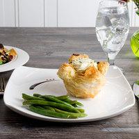 Bon Chef 1200009P Globe 11 1/4 inch x 11 1/4 inch White Porcelain Dinner Plate - 12/Pack
