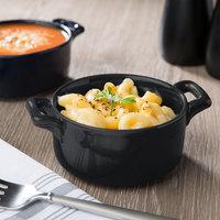 Bon Chef 1600002PBlack 9.5 oz. Matte Black Porcelain Cocotte - 36/Case