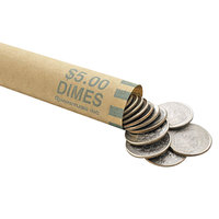 MMF Industries 2160640C02 Preformed Green Coin Wrapper - $5, Dimes - 1000/Case