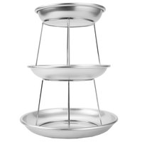 Choice 3-Tier Seafood Tower Set with Mini Aluminum Trays and Stand