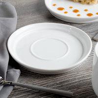 Bon Chef 1500006P Mid Century 6 inch White Porcelain Saucer - 36/Case