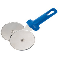 GI Metal AC-ROP4 4 inch Stainless Steel Double Wheel Pizza Cutter with Plastic Handle