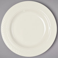Homer Laughlin HL3437000 Gothic 13 oz. Ivory (American White) Undecorated China Pasta Bowl - 12/Case
