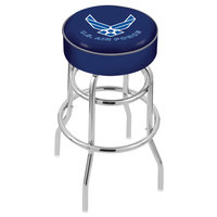 Holland Bar Stool L7C130AirFor United States Air Force Double Ring Swivel Bar Stool with 4 inch Padded Seat