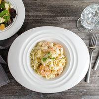Bon Chef 1000016P Concentrics 16 oz. White Porcelain Oval Pasta Bowl - 12/Pack