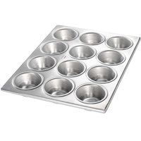 Chicago Metallic 46120 12 Cup Plain Customizable Muffin Pan - 10 3/4 inch x 14 1/8 inch