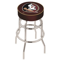 Holland Bar Stool L7C130FSU-HD Florida State Double Ring Swivel Bar Stool with 4 inch Padded Seat