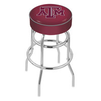 Holland Bar Stool L7C130TexA-M Texas A&M Double Ring Swivel Bar Stool with 4 inch Padded Seat
