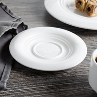 Bon Chef 1000008P Concentrics 5 inch White Porcelain Demi Saucer - 36/Case