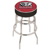 Holland Bar Stool L7C130AL-Ele University of Alabama Double Ring Swivel Bar Stool with 4 inch Padded Seat