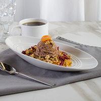 Bon Chef 1100002P Slanted Oval 6 oz. White Porcelain Bowl - 18/Case