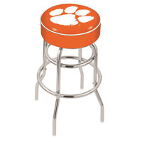 Holland Bar Stool L7C130Clmson Clemson Double Ring Swivel Bar Stool with 4 inch Padded Seat