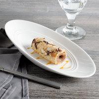 Bon Chef 1100001P Slanted Oval 4 oz. White Porcelain Bowl - 24/Case