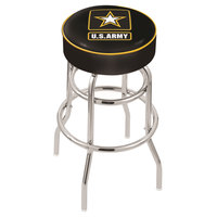 Holland Bar Stool L7C130Army United States Army Double Ring Swivel Bar Stool with 4 inch Padded Seat